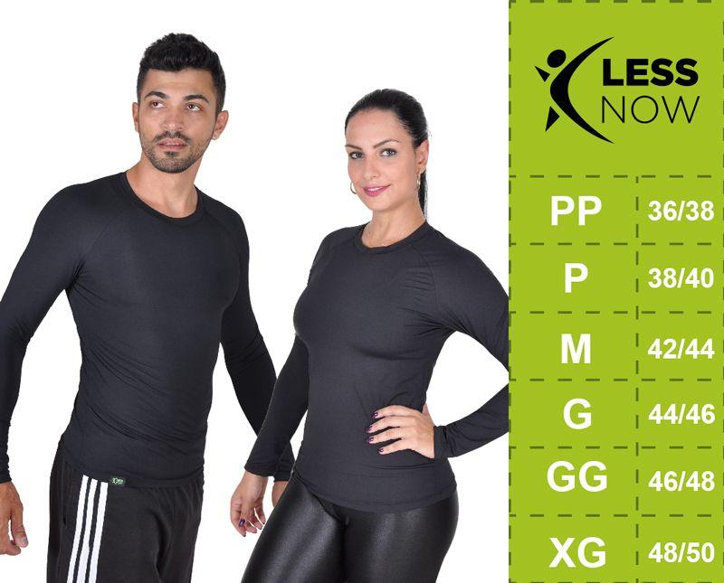 Camiseta Less Now Feminina Fator Proteção Solar 50 Uva/uvb Azul