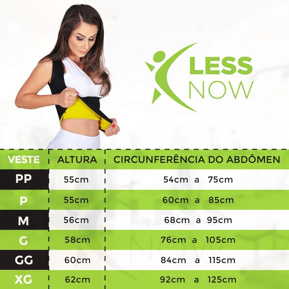 Cinta Emagrecedora Feminina Queima Gordura Less Now T-shirt  Amarelo com Preto