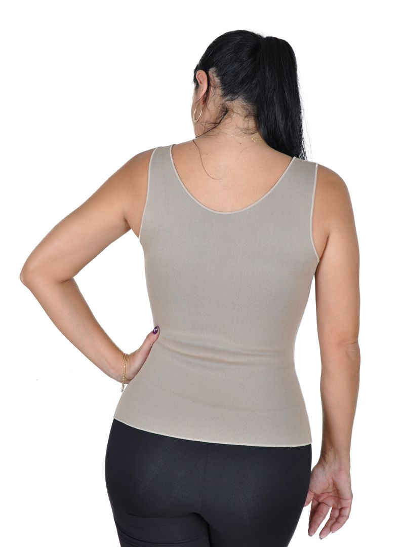 Cinta Emagrecedora feminina Queima Gordura Less Now T-shirt  Bege