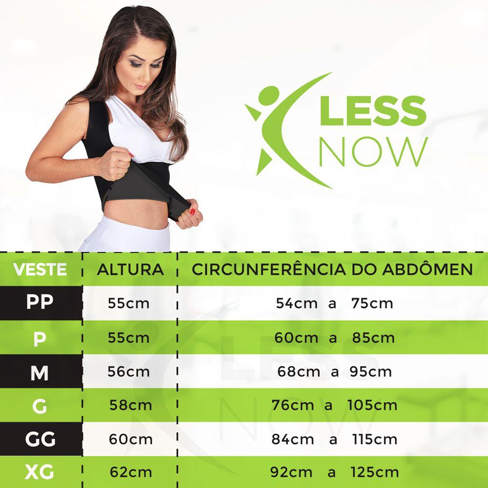 Cinta Emagrecedora Feminina Queima Gordura Less Now T-shirt  Preta
