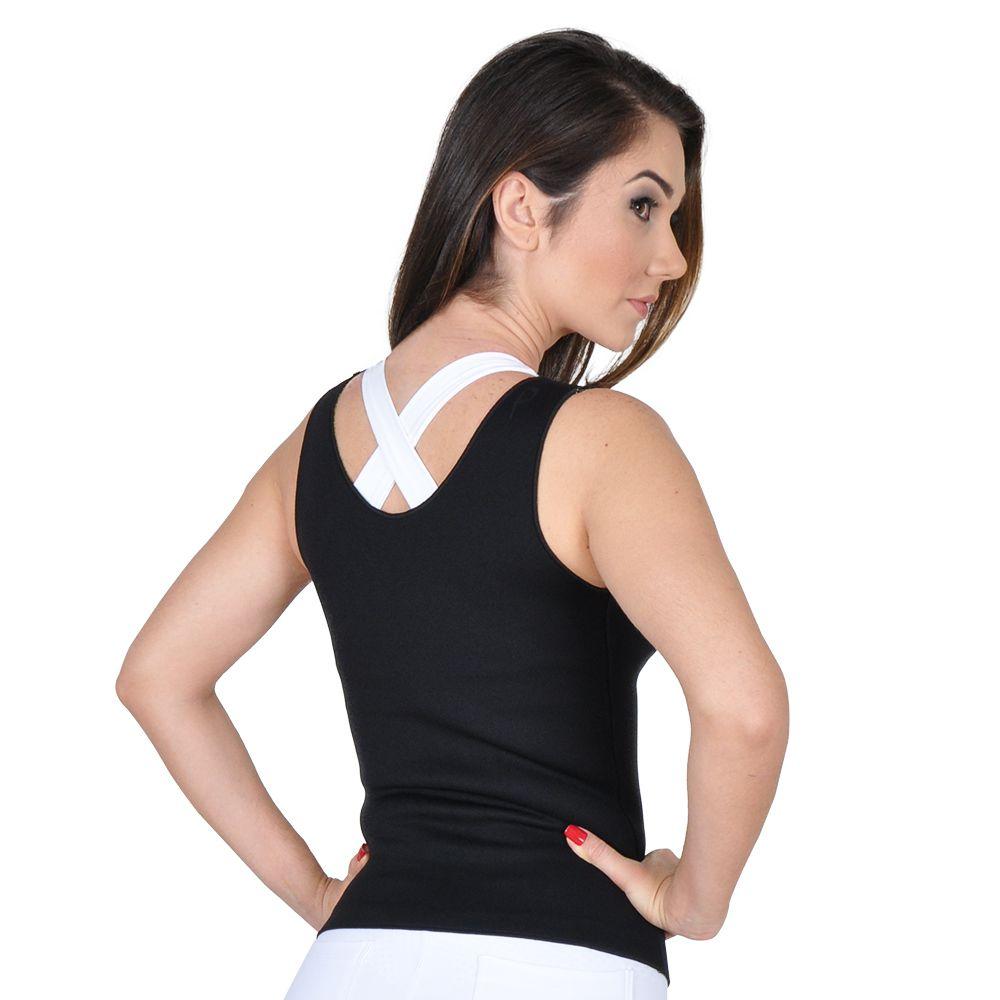 Cinta Emagrecedora Feminina Queima Gordura Less Now T-shirt  Rosa com Preto