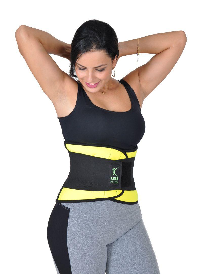 Cinta Térmica Less Now Amarela Modeladora e Queima Gordura