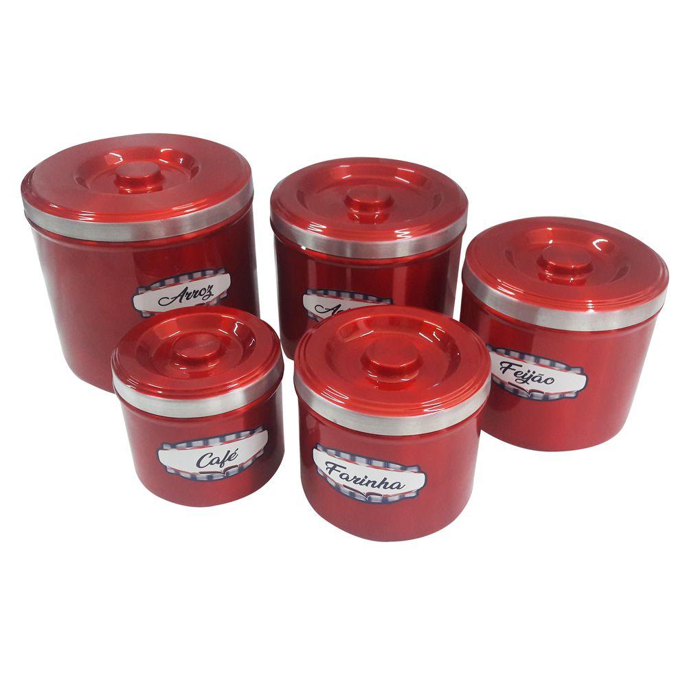 Conjunto Porta Mantimentos 5 Pçs em Alumínio Extra Forte