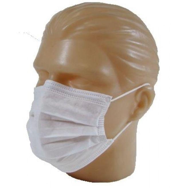 Mascara Cirúrgica Varias Cores  Rosa,verde,azul Ou Branca 50 unidades