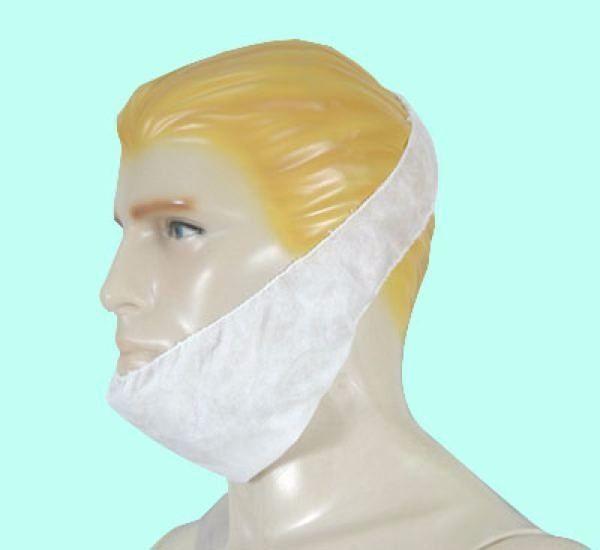 Protetor De Barba Em Tnt Branco Com 50 unidades