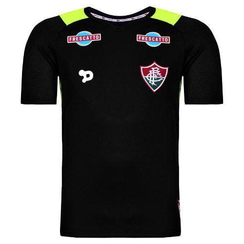 Camisa Fluminense 2 Goleiro Pt/am Dry World Nº 12 Cavalieri