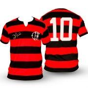 Camisa Flamengo Zico Fla Tri Infantil e Adulto (Pai e Filho Iguais)