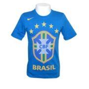 Camisa Nike Brasil Federation Azul Algodão Infantil