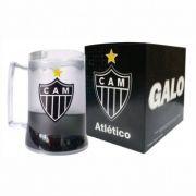 Caneca Incolor Gel Preto Escudo Atlético Mineiro