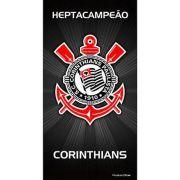 Toalha Corinthians Banho Veludo Estampada 62510