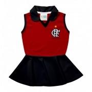 Vestido Pólo Infantil Flamengo Torcida Baby