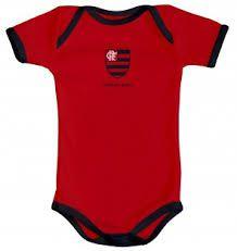 Body Bebê Flamengo Vermelho 033ax Torcida Baby