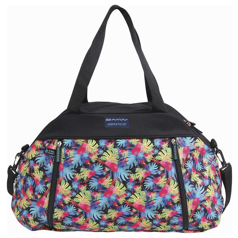 Bolsa com Alça Feminina Gabriela Pugliese DMW floral ref: 11095