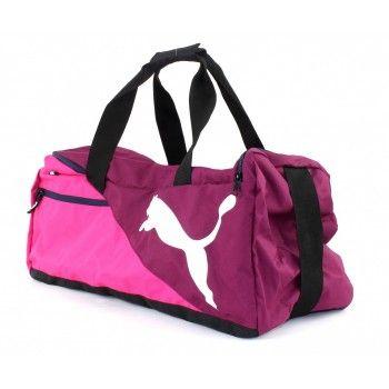 Bolsa Puma Fundamentals Sports Bag Média Rosa Lilás 5f6cd41ca26c8