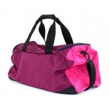Bolsa Puma Fundamentals Sports Bag Média Rosa/Lilás