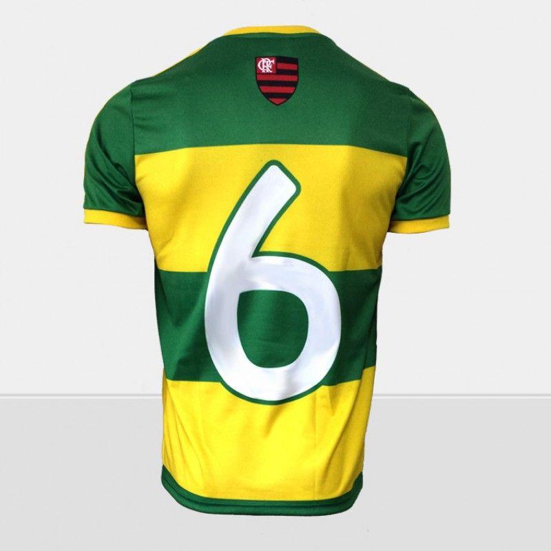 Camisa Braziline Flamengo Brasil Hexa Infantil