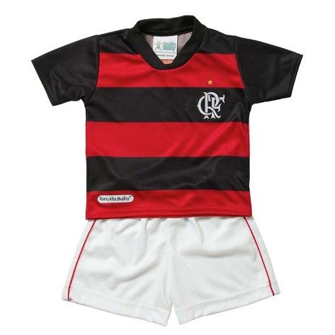 Kit Camisa, Short e Diploma de Torcedor Flamengo Torcida Baby