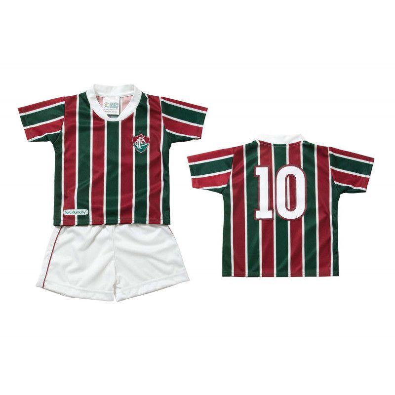 Kit Camisa, Short e Diploma de Torcedor Fluminense Torcida Baby