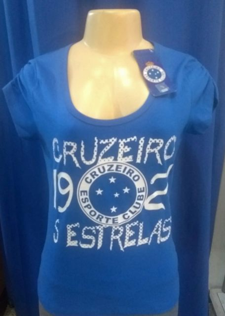Camisa Cruzeiro Feminina Estrelas Cód 272300