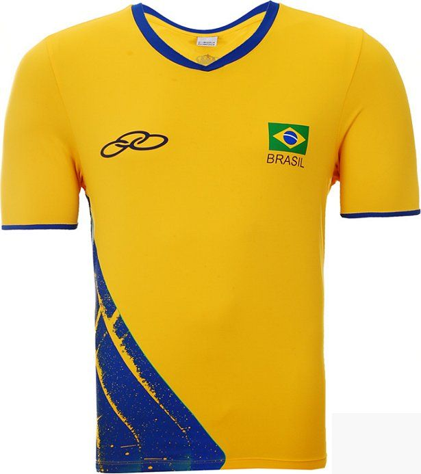 Camisa do Brasil Amarela Olympikus Vôlei 2016 Masculina