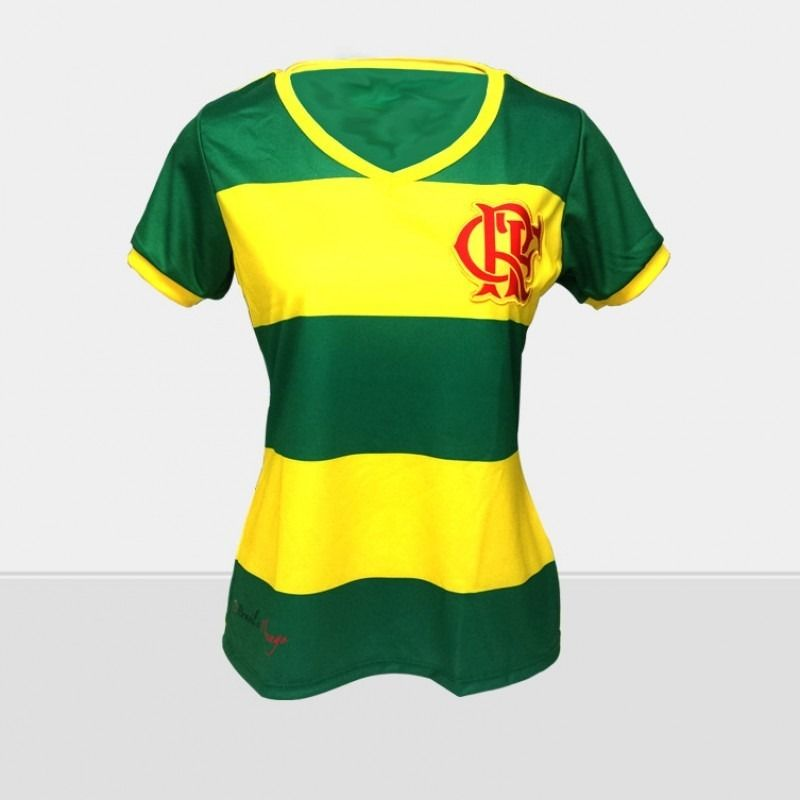 Camisa Braziline Flamengo Brasil Feminina
