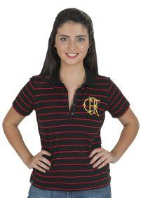 Camisa Flamengo Pólo Feminina Trad