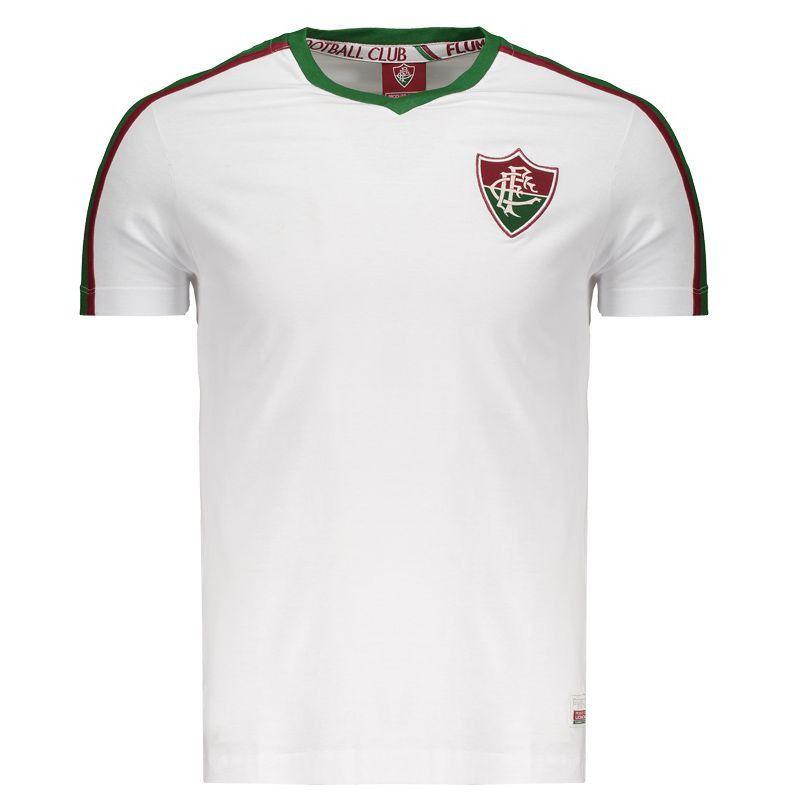 Camisa Fluminense Branca Gola V numero 9 Meltex