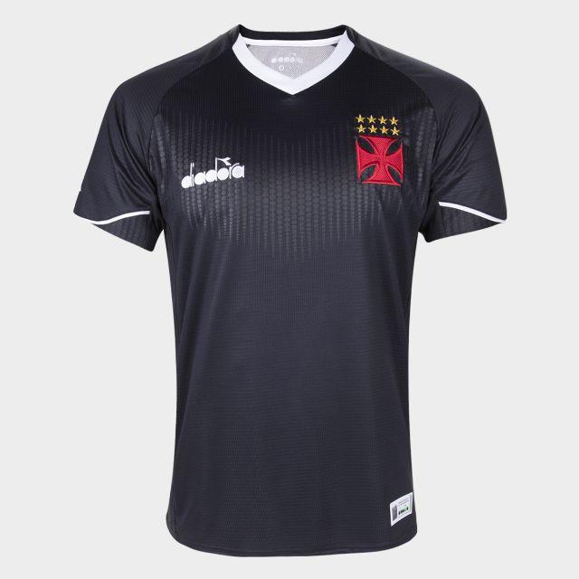 Camisa Goleiro Preta Torcedor Vasco Diadora 2018