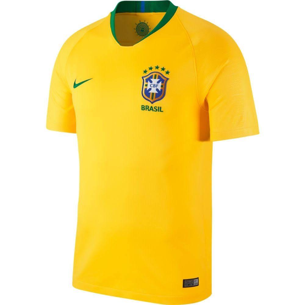 5232c0f252 Camisa Nike Brasil I CBF 2018 19 Torcedor Masculina Amarela - Só Torcedor -  Apaixonados ...