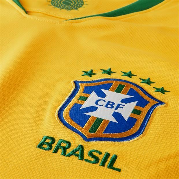 ... Camisa Nike Brasil I CBF 2018 19 Torcedor Masculina Amarela - Só  Torcedor - Apaixonados ... ad17db9209c