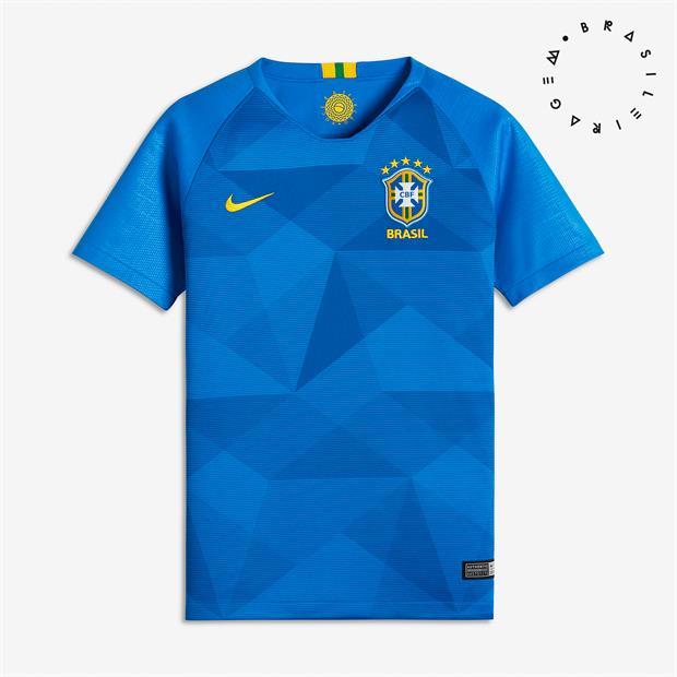 ... Camisa Nike Brasil II CBF 2018 19 Torcedor Masculina Azul - Só Torcedor  - Apaixonados ... 82a3e015eda8c