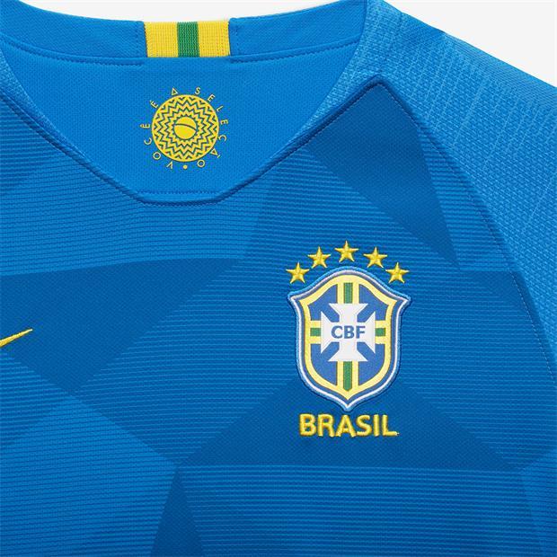 57d4c0ad8718c ... Camisa Nike Brasil II CBF 2018 19 Torcedor Masculina Azul - Só Torcedor  - Apaixonados ...