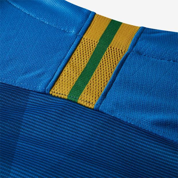 f4c6d3143e Camisa Nike Brasil II CBF 2018 19 Torcedor Masculina Azul - Só Torcedor ...
