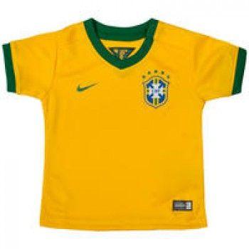 Camisa Nike CBF Brasil  2014 Amarela Para Bebê