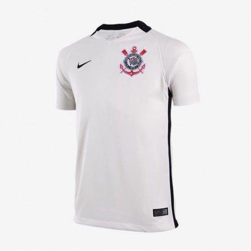 Camisa Nike Corinthians I Branca 2016/2017 Torcedor Infantil