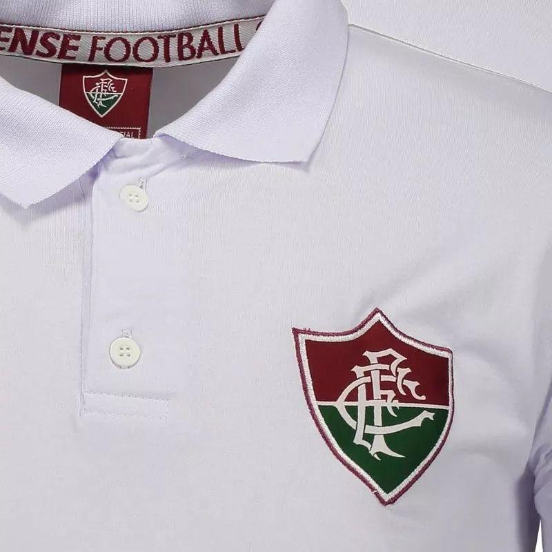 Camisa Polo Fluminense Branca Meltex