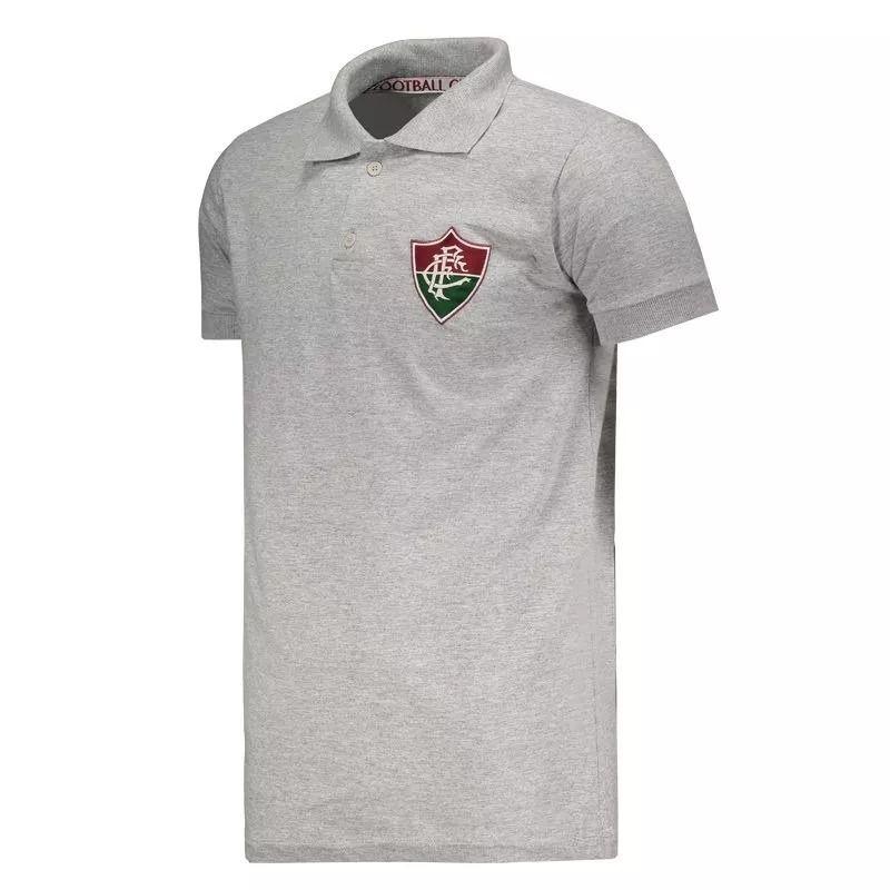 Camisa Polo Fluminense Mescla Cinza Meltex