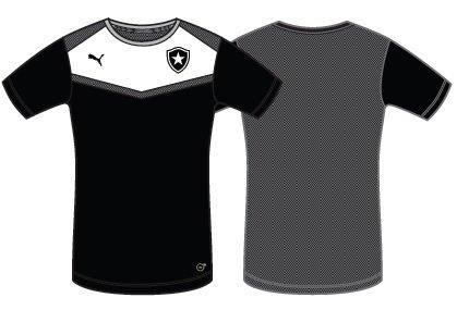 03d703c2c2053 ... Camisa Puma Botafogo Treino 2015 Branca   Preta - Só Torcedor -  Apaixonados por Futebol ...