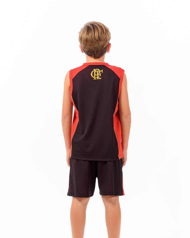 Camisa Regata Braziline Flamengo Cope infantil