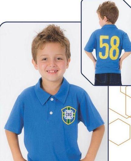 Camisa Retrô Brasil CBD 58 Infantil