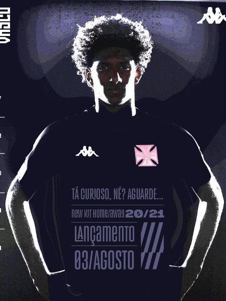 Camisa Vasco da Gama home Kappa 2020 Jogo I Masculina Preta