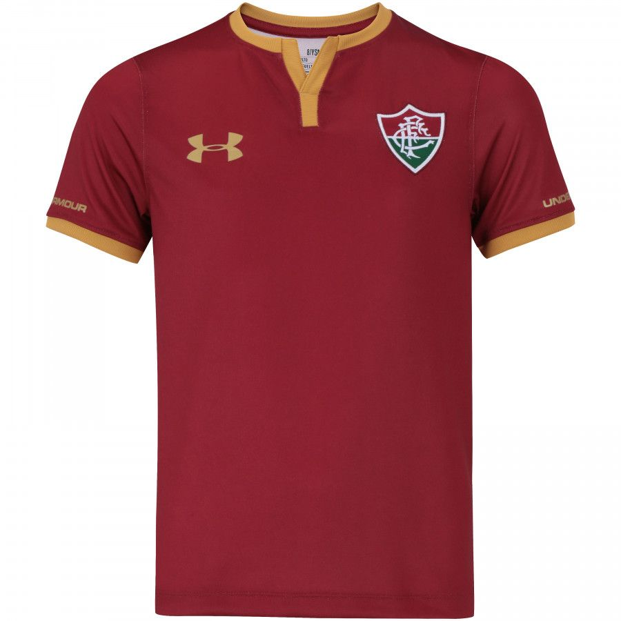 Camiseta Fluminense 3 2017 Under Armour Infantil Grená