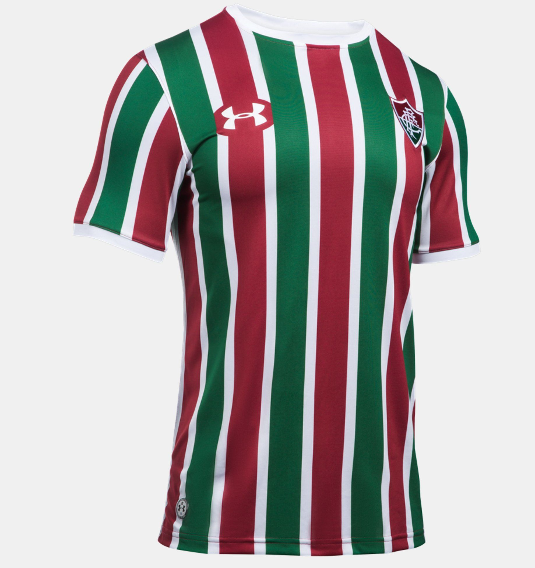Camiseta Fluminense FC Under Armour Home (Tricolor) Oficial Infantil