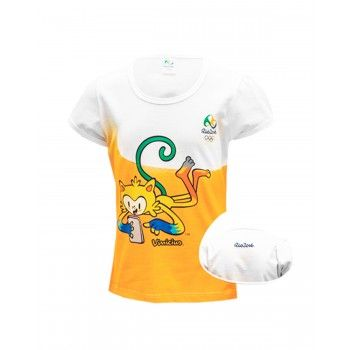 Camiseta Infantil Feminina Vinícius  Rio 2016