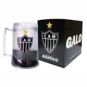 Caneca  Atlético Mineiro Incolor Gel Preto Escudo