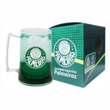 Caneca Gel Escudo Palmeiras Incolor Gel Verde
