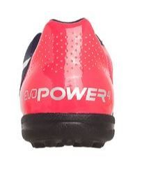 Chuteira Puma EvoPower 4.2 TT Jr Marinho e Rosa