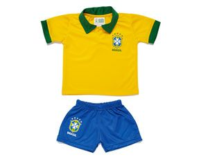 Conjunto Oficial Seleção Brasileira Torcida Baby Pólo CBF