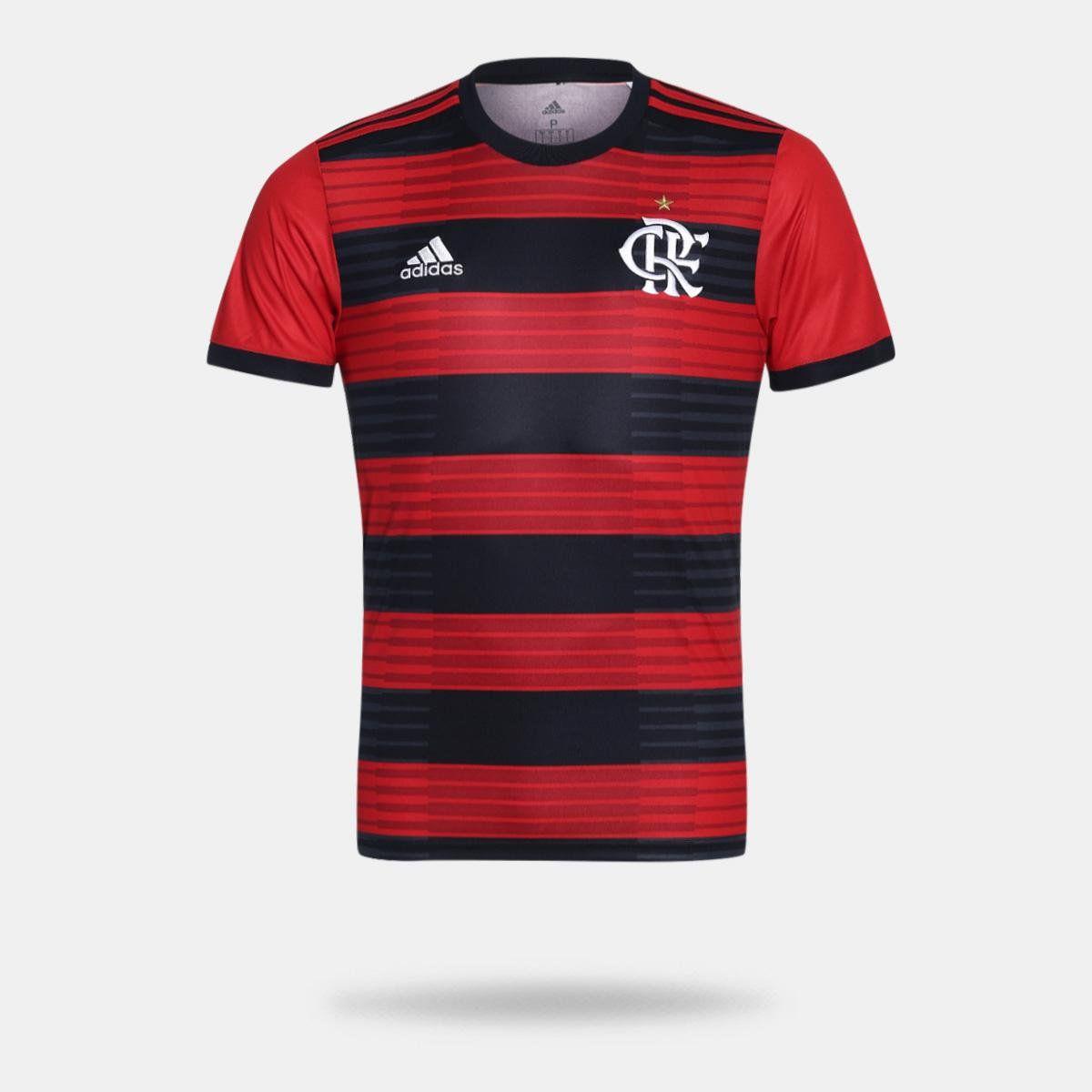Flamengo I 2018 s/n° Torcedor Adidas Masculina - Camisa Vermelho e Preto