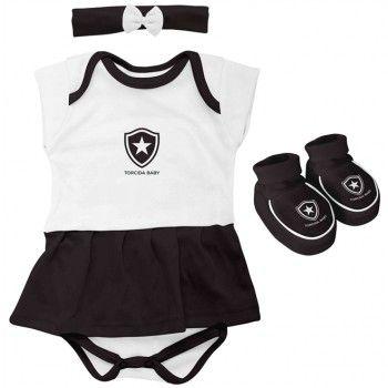 Kit 3 Peças Menina Botafogo 033 B